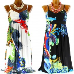 Women's BEthnic Bustier Summer Dress-JOSEPHA-CharlesElie94