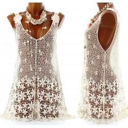 Women's Lace Tunic Mini Dress- UK Sizes 8-14-CLARA-CharlesElie94