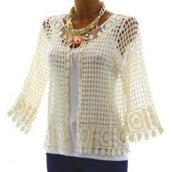 Cotton Lace Ladies' Cardigan Jacket