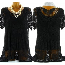 Women's Long Lace Tunic+Large Sizes Top-CHIARA-CharlesElie94