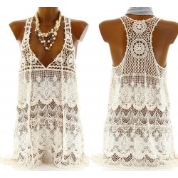 CharlesElie94 Women's MILENA Boho Lace Summer Sexy Tunic Dress UK 8-14
