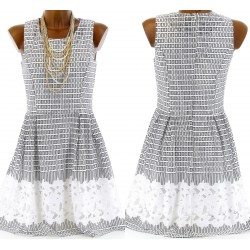 Robe dentelle Patineuse Couture - COLOMA -