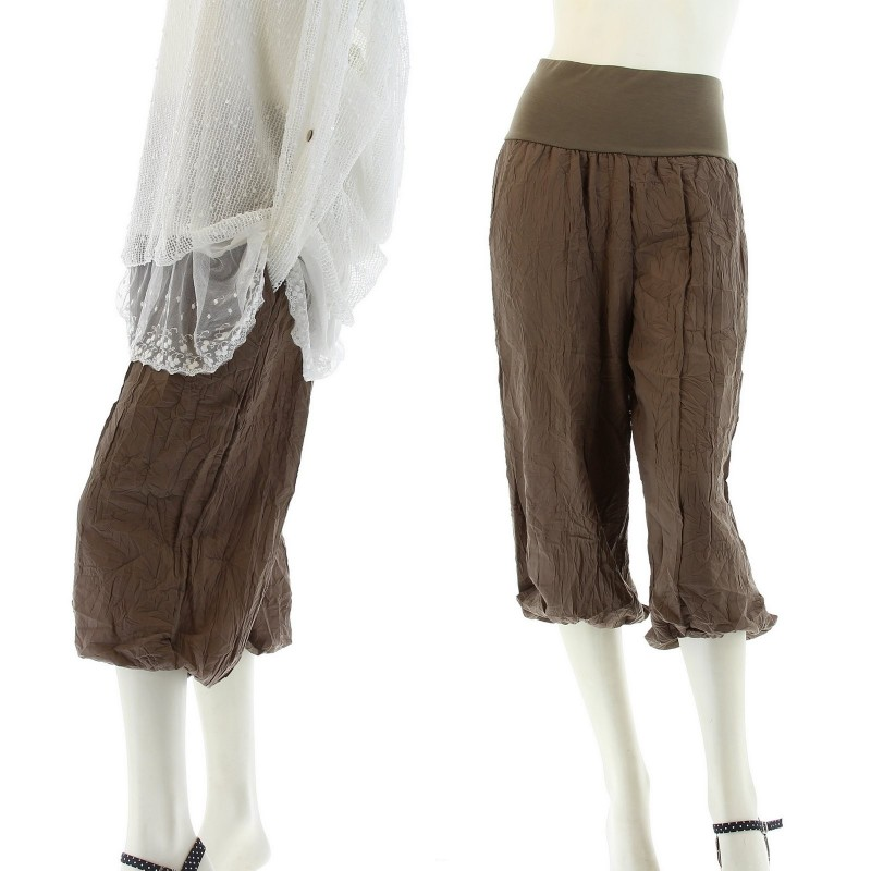 pantacourt bloomer ample pantalon panty short chantal femme c. Black Bedroom Furniture Sets. Home Design Ideas