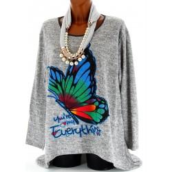 Tunique Pull Asymétrique Ample Papillon 42/50 - FIONA- Femme - CharlesElie94