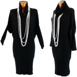 Robe Pull Long Cachemire Laine Ample Col Boule - DANIELE - Femme - CharlesElie94