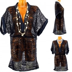 CharlesElie94 CARMEN Women's Beach Lace Kimono Tunic Dress Babydoll UK8-14