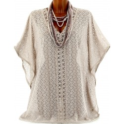 CharlesElie94 AYMELINE Women's Macrame Lace Tunic Poncho Cape UK 10-24