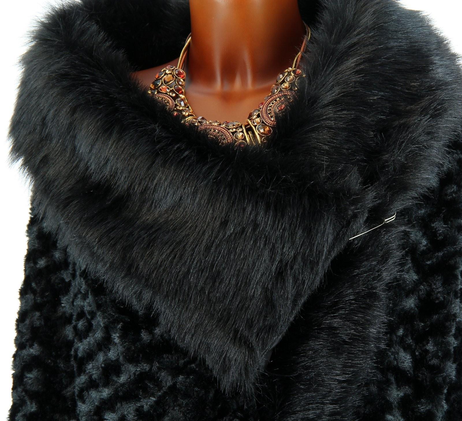 cape manteau poncho fausse fourrure noir virginie ebay