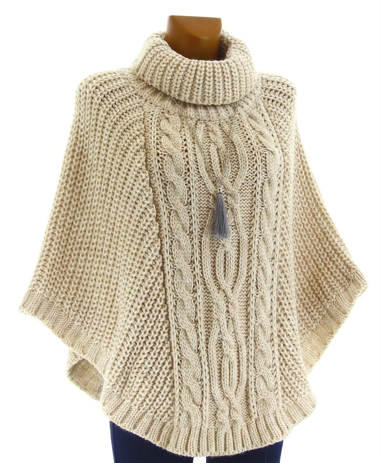 poncho laine grosse maille laine mohair beige elodie beige. Black Bedroom Furniture Sets. Home Design Ideas