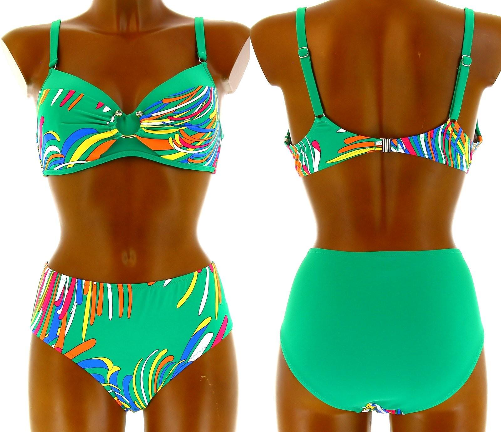 maillot de bain bikini grande taille santorini vert vert ebay. Black Bedroom Furniture Sets. Home Design Ideas