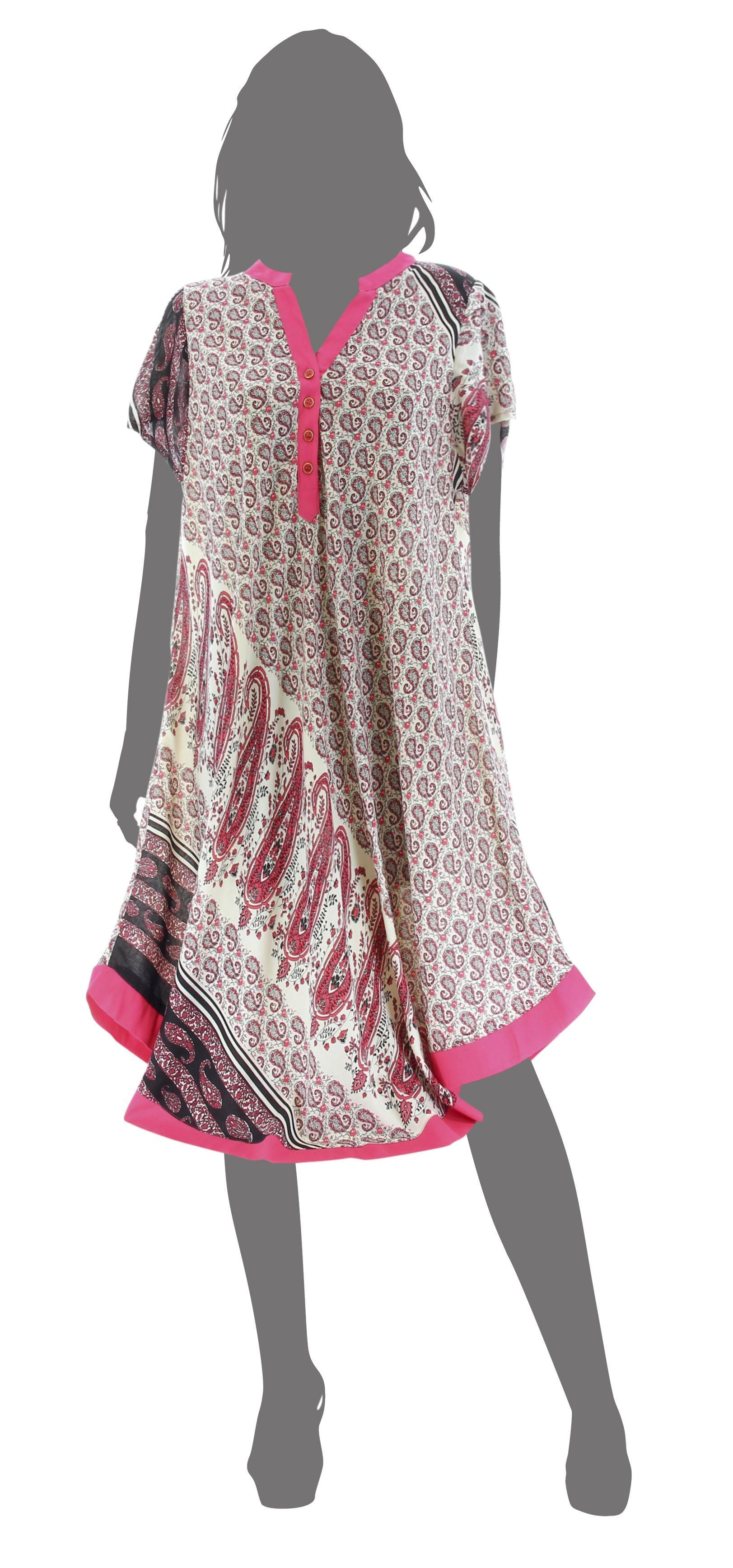 robe ample boh me ethnique grande taille t rose coralie. Black Bedroom Furniture Sets. Home Design Ideas