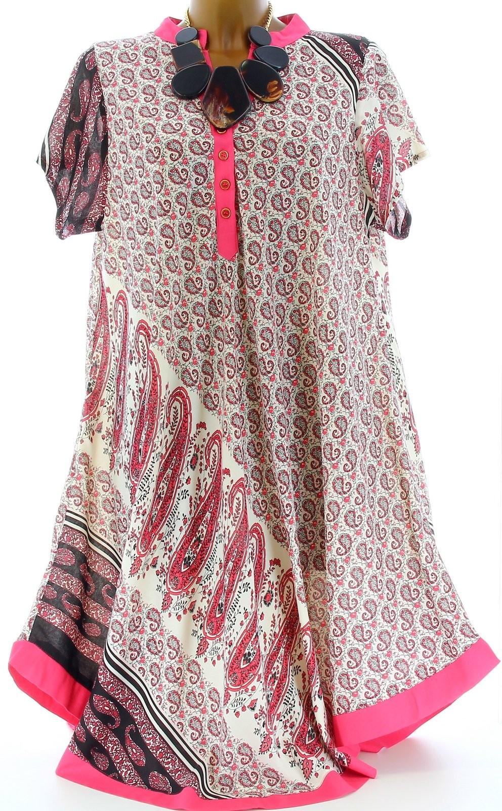 robe ample boh me ethnique grande taille t rose coralie rose ebay. Black Bedroom Furniture Sets. Home Design Ideas