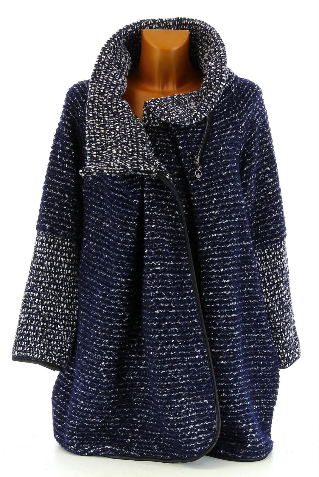 manteau cape laine bouillie hiver grande taille bleu marine violetta bleu ebay. Black Bedroom Furniture Sets. Home Design Ideas