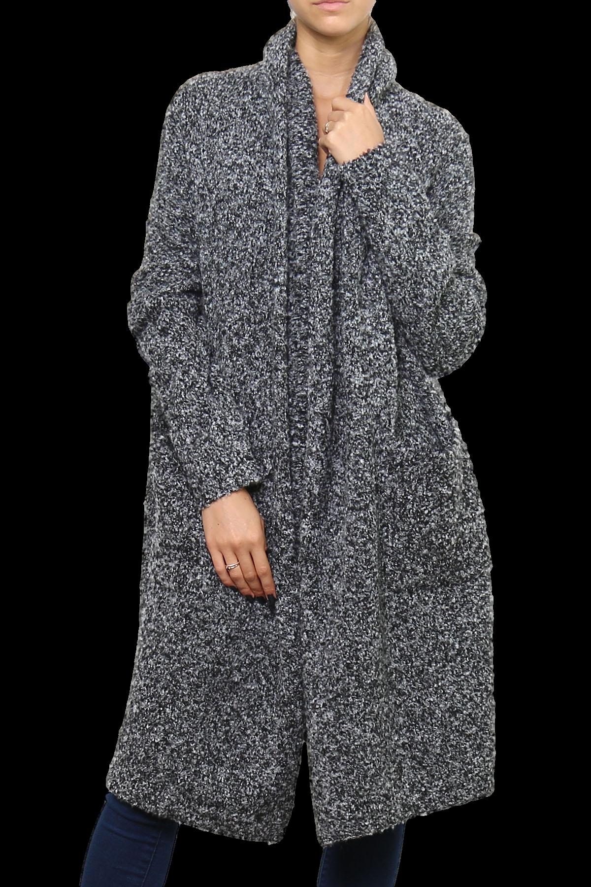 manteau gilet long laine bouclette ample gris chin hiver argentina gris ebay. Black Bedroom Furniture Sets. Home Design Ideas
