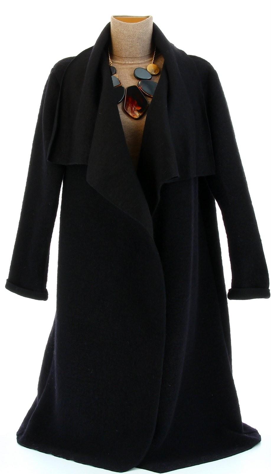 manteau hiver ample laine bouillie grande taille noir aurelia noir ebay. Black Bedroom Furniture Sets. Home Design Ideas