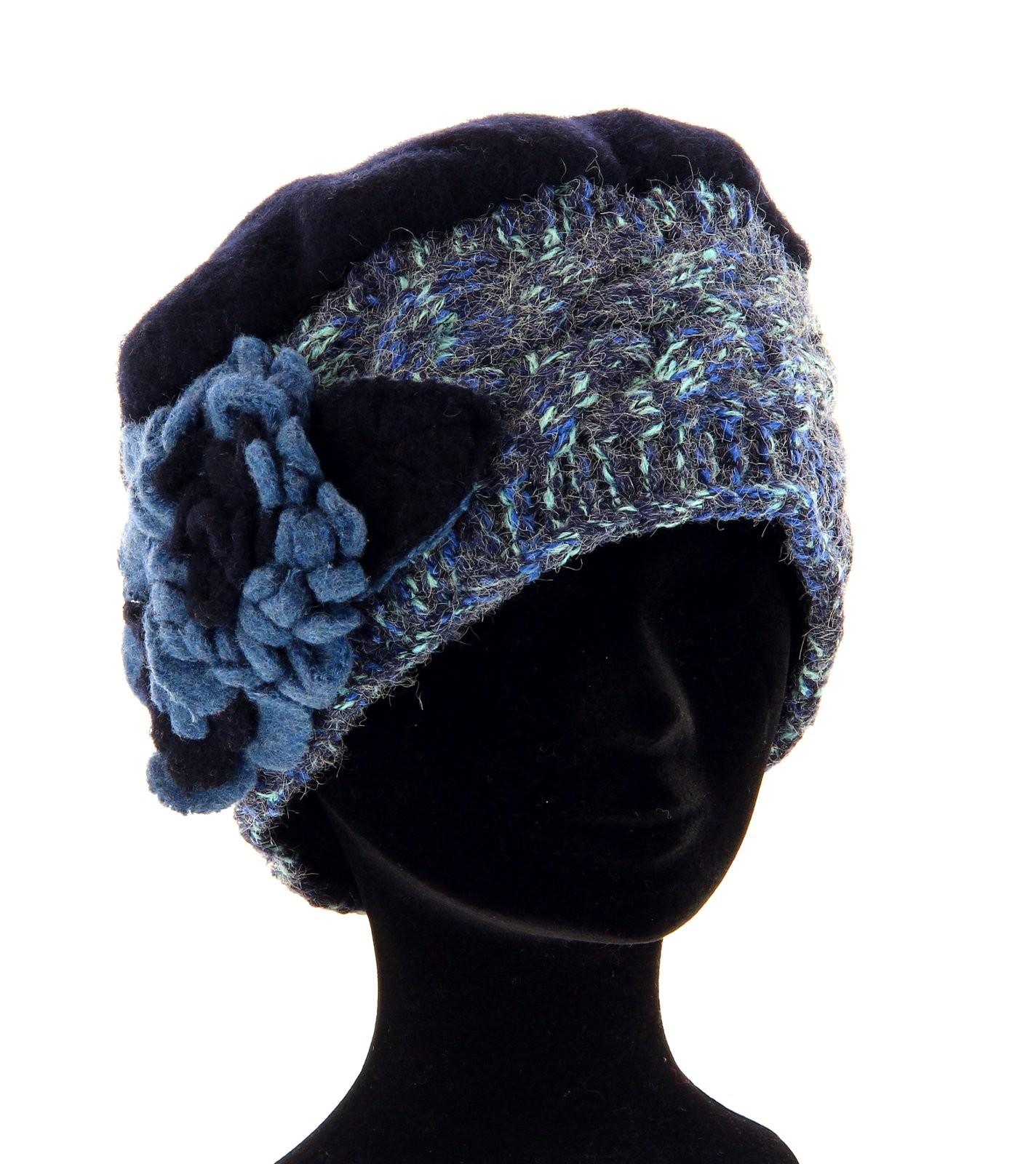 bonnet femme laine bouillie hiver bleu mathieu ebay. Black Bedroom Furniture Sets. Home Design Ideas