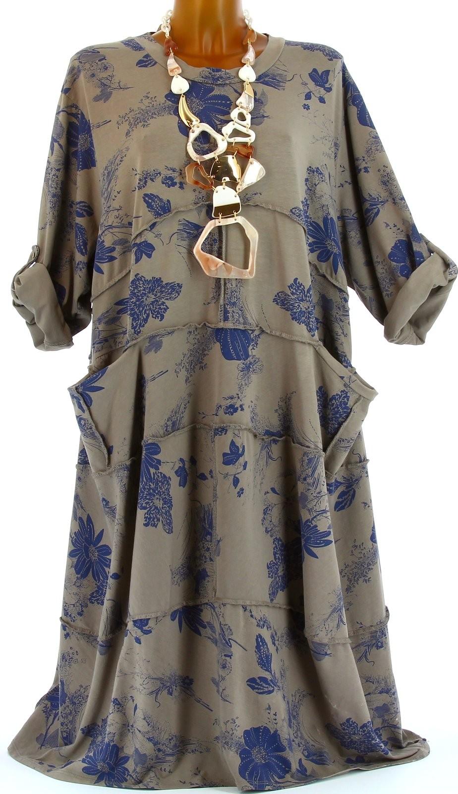 robe t boh me coton grande taille taupe patchwork taupe ebay. Black Bedroom Furniture Sets. Home Design Ideas