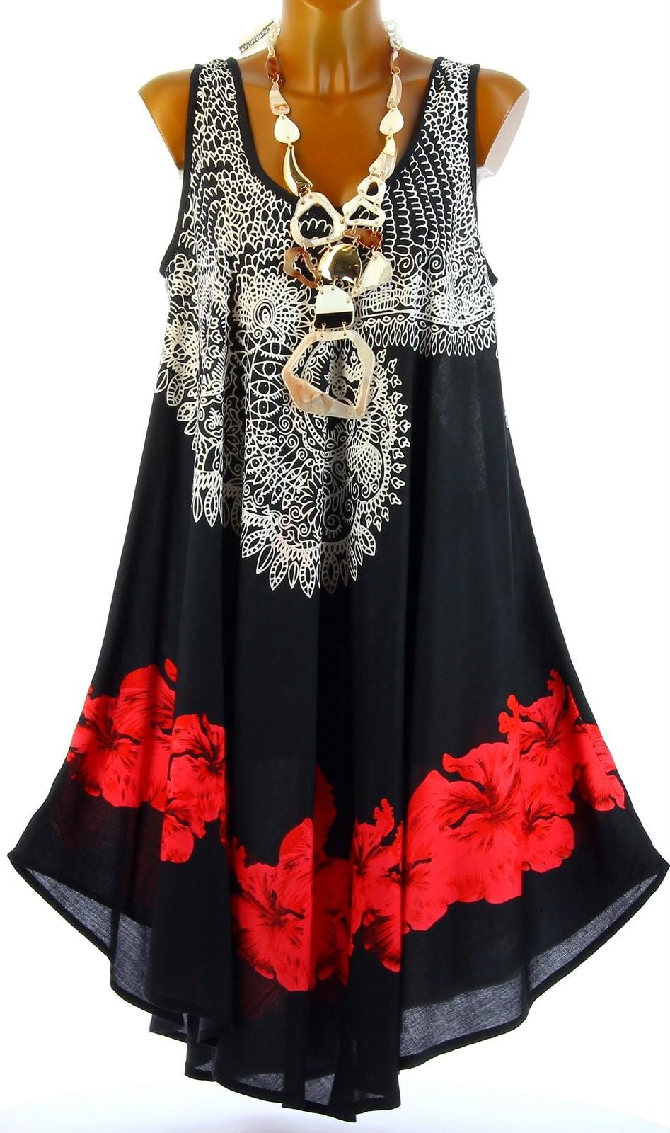 robe t asym trique boh me grande taille noire audelia noir. Black Bedroom Furniture Sets. Home Design Ideas