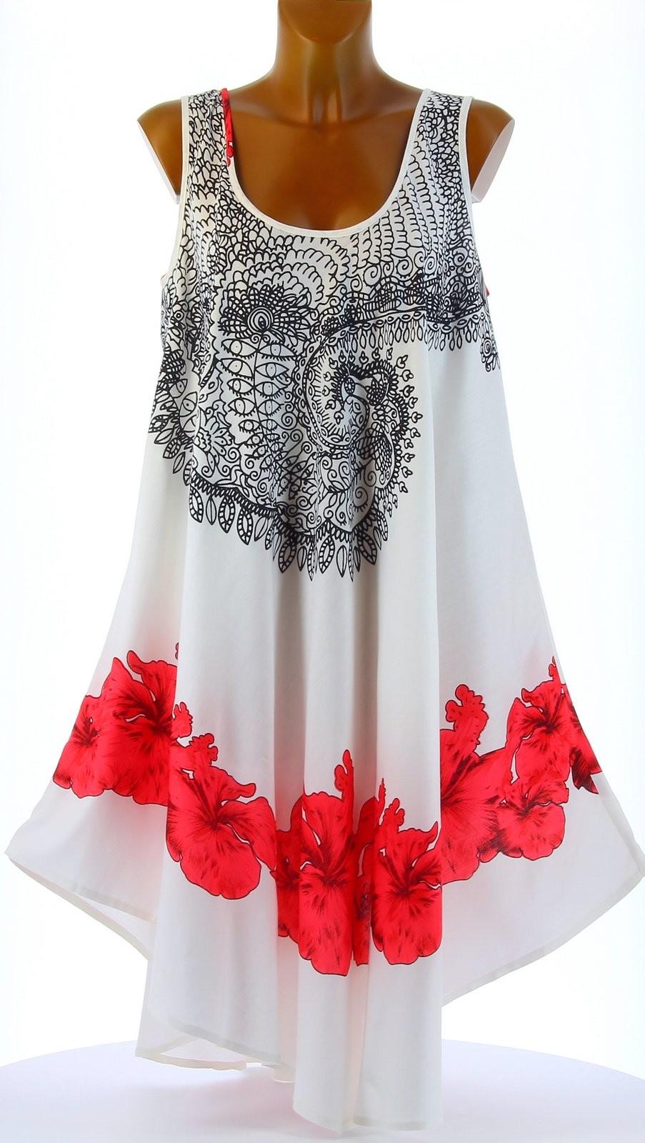 robe t asym trique boh me grande taille blanc audelia blanc ebay. Black Bedroom Furniture Sets. Home Design Ideas